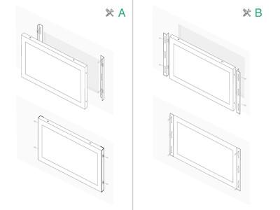 Monitor dotykowy 8 cali (4:3) metalowy